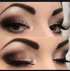 Dramatic brown smokey eye, makeup look