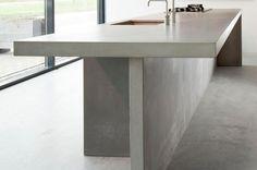 inspiratie beeld voor betonlookdesign.nl #keukenblad beton #betonlook keuken