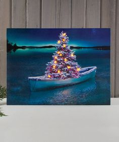 Look what I found on #zulily! Christmas Tree Boat Light-Up Canvas by Ohio Wholesale, Inc. #zulilyfinds