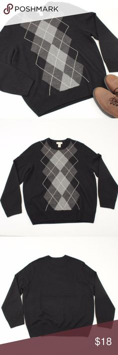 Dockers Black & Grey Argyle Crewneck Sweater //Kimchi Blue from Urban Outfitters //NWT condition //thick cotton blend material //ribbed & pleated texture //straps criss cross in the back //pretty pink, orange, & yellow stripes //a beautiful piece layered or by itself!  //smoke free home, but pet friendly! //no trades! //@_poshfox Dockers Sweaters Crewneck