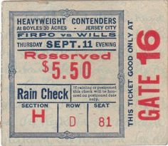 Vintage Ticket, digging this old typography layout