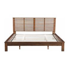 Choose to Linea King Bed, Walnut by Zuo Modern Contemporary