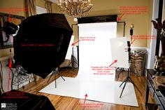How to set up a white seamless backdrop for portraits. | Michael B. Johnston Photography
