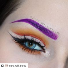 Eye Envy ...@Ears_Will_Bleed wearing Multitasker Pencil in 'Seductive Damson' along with 'Magnetic Melon' & 'Elephant' on the eye! . . . #purpleeyebrows #colour #crueltyfreemakeup #mua #bbloggers #lotd #monday #eyepencil #multitasking #makeupjunkies