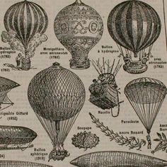 Vintage French Dictionary Page- Aeronautique, 1948