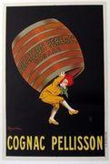 Cognac Pellisson Original Vintage Advertising Poster