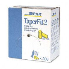 Aearo EAR : E-A-R TaperFit 2 Self-Adjusting Ear Plugs Uncorded Foam Yellow 200 Pairs/Box Self-adjusting foam plugs tapered for easier...