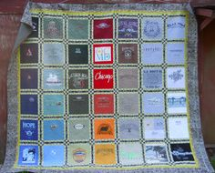 Butch and Betty's T-shirt quilt. Quilt layout by my most talented granddaughter, Hannah Stewart!