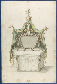 Thomas Chippendale | Toilet Table, from Chippendale Drawings, Vol. II | The Met