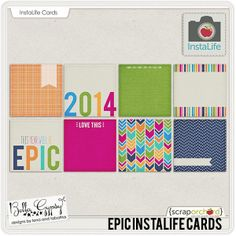 Epic InstaLife Cards - 1/9/14 last day to save 20% off!
