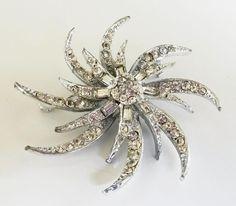 "Vintage 1950s #Pinwheel #Starburst #ClearRhinestone #SilverTone #Pin 2-7/16"" http://www.ebay.com/itm/Vintage-1950s-Pinwheel-Starburst-Clear-Rhinestone-Silver-Tone-Pin-2-7-16-/121737965897… #myricky"