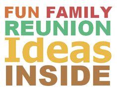 family reunion ideas
