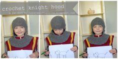 Lorajean's Magazine,: Free pattern: Crochet knight hood