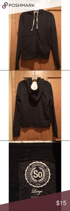 Comfy Grey Sweatshirt Very warm, comfortable, soft sweatshirt. Great for cold weather or snow. Never worn. Given as a gift and I already have too many jackets. The hood is so soft and warm! Runs small. so authentic american heritage  Tops Sweatshirts & Hoodies