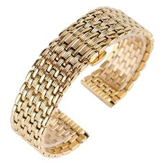 16.99$  Watch now - http://alidew.shopchina.info/1/go.php?t=32811990173 - Luxury Golden 18mm 20mm 22mm Watch Band Strap Hidden Clasp Bracelet Fashion Solid Stainless Steel Watchbands for Men Women 16.99$ #magazineonline