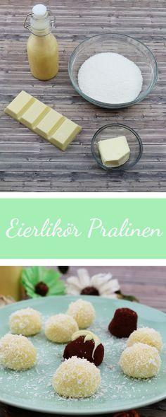 DIY Pralinen aus Eierlikör, Eierlikör Pralinen selber machen, Geschenkidee, DIY Geschenk, Pralinen, DIY Pralinen aus selbstgemachtem Eierlikör - Rezepte auf www.riamarleen.de
