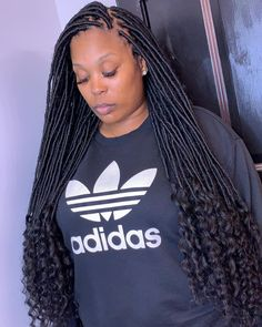 Black Girl Braided Hairstyles, Faux Locs Hairstyles, Quick Weave Hairstyles, Black Girl Braids, African Braids Hairstyles, Girls Braids, Black Women Hairstyles, Girl Hairstyles, Updo Hairstyle