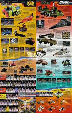 """Inserts, catalogs, brochures, pamphlets, booklets - Whatever you want to call them. These were the great full color """"poster"""" size pages fol. Vintage Toys 1960s, Retro Toys, Baroness Gi Joe, 80 Toys, Gi Joe Vehicles, Star Wars Toys, A Comics, Back In The Day, Shawl"""