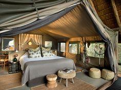 Tanda Tula Camp's new chic tents! #southafrica #tandatula #krugerpark