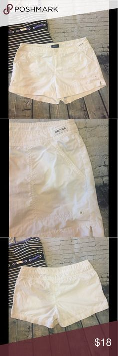 NAUTICA Swim Shorts - Coverups 🏊‍♀️ size M!!! EUC NAUTICA White Swim Shorts-Coverups, Size M!!! 🏊‍♀️ Great shoreside or poolside ⛱ Worn twice! Nautica Swim Coverups