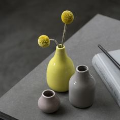 The Botanica Miniature Vases are made in beautiful faience.