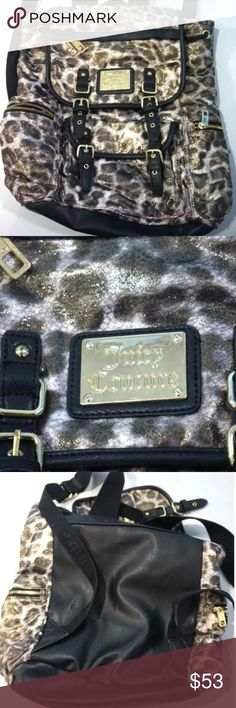 """Juicy Couture Backpack Juicy Couture Backpack  Pre-owned, good condition outside, minor stains inside  Strap Drop: 11""""  Height: 17 1/2""""  Width: 14 1/4"""" Juicy Couture Bags Backpacks"""