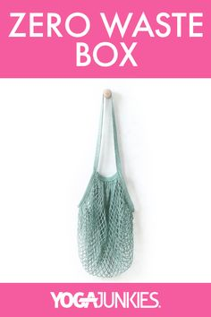 We're so excited to have this beautiful sea green cotton net bag in our Zero Waste box! Ready to begin your zero waste journey? Use the link to check out the other amazing products from this month's box. Neon Bag, Reusable Coffee Cup, String Bag, Green Cotton, Zero Waste, Journey, Sea, Tote Bag, Link