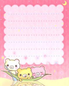Kawaii letter paper - Milkuma