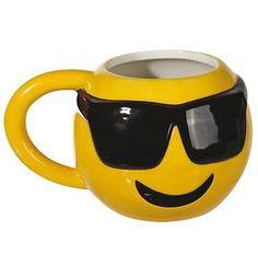 Cool Emoticon With Shades 3D Mug Emoji Cool Mug Funny Tea Coffee Novelty Mug  | eBay