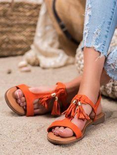 Sandálky so strapcami Sandals, Shoes, Fashion, Moda, Shoes Sandals, Zapatos, Shoes Outlet, Fashion Styles, Shoe