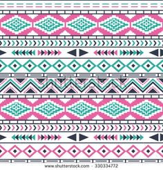 Ethnic seamless pattern. Tribal seamless texture. Aztec tribal seamless pattern.