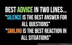 Best Advice In Two Lines