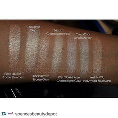 Everyone is raving about Becca & Jaclyn Hill's new highlighter, Champagne Pop. While it is definitely worth the hype, the price is a little steep. Why not look at some dupes? Body Makeup, Makeup Swatches, Drugstore Makeup, Skin Makeup, Makeup Cosmetics, Skincare Dupes, Beauty Dupes, Beauty Makeup, Makeup Is Life