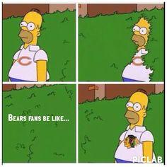 Bears Fans Be Like... Ha ha ha! Let's Go Hawks...