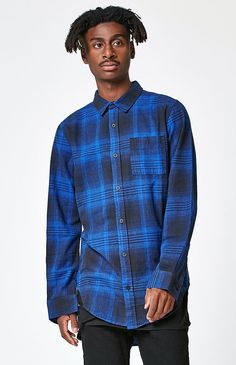 Plaid Flannel Long Sleeve Button Up Shirt
