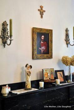Catholic home altar on a shelf!   Home Altar Ideas   Pinterest ...