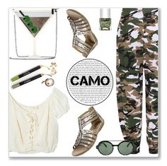 """""""Camouflage style"""" by dorinela-hamamci ❤ liked on Polyvore featuring WearAll, Earth, Alice + Olivia, Jens Pirate Booty, Italia Independent, Nails Inc., polyvorecontest, camostyle and polyvoreditorial"""