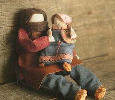 """Коллекционные куклы ручной работы. Ярмарка Мастеров - ручная работа Куклы-образы """"Семья для Жени"""". Handmade."""