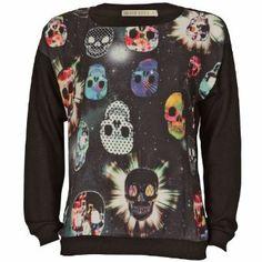 Brave Soul Skull print sweater
