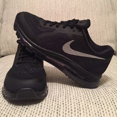 Nike Air Max Blacked out 2014 Nike Air Max, new in original box (no lid) with label. Only pair! Nike Shoes Athletic Shoes