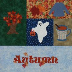 Seasonally Autumn Quilt Section by victorianaquiltdesign