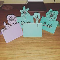 Some new flower design place names! #jld #new #flowers #instagram #etsy #weddingdecor #weddingdetails #wedding #rose #lily