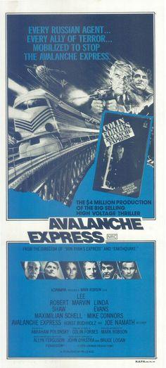 AVALANCHE EXPRESS -LEE MARVIN / ROBERT SHAW- ORIGINAL AUSTRALIAN DAYBILL POSTER