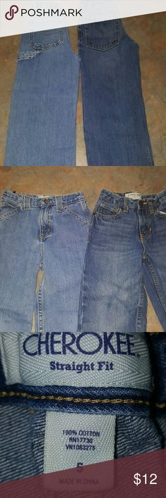 Set of 2 Boy's Jeans 1 Pair is Jk Indigo (carpenter jeans)& 2nd pair is Cherokee.  Both in great condition, no tares or stains. * FAST SHIPPING *  IF you have any questions please comment below as I usually respond within 24hrs or less.  Thanks for looking & Happy Poshing!!!🌻🌻🌻 Cherokee Bottoms Jeans
