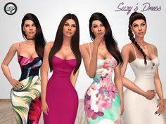 MP Suzy's Dress at BTB Sims – MartyP via Sims 4 Updates