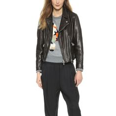 Rank & Style's Talking Top Tens - Hannah Cheng's Ten Essentials: 3.1 Phillip Lim Sculpted Leather Moto Jacket #rankandstyle #talkingtoptens #giftideas #holidayedition https://www.rankandstyle.com/talking-top-10/20141217/hannah-cheng/