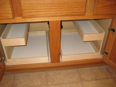 Cabinet pull out shelves storage