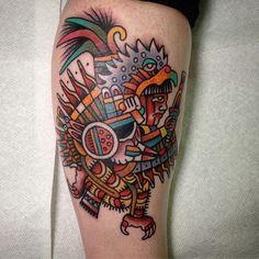 Guerrero águila por El Chimu. Top con los mejores tatuajes prehispánicos