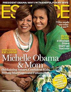 Michelle Obama & Mom - Essence Magazine