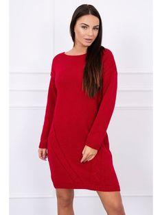 Dámsky dlhý červený sveter S7614CE High Neck Dress, Dresses With Sleeves, Long Sleeve, Fashion, Turtleneck Dress, Moda, Sleeve Dresses, Long Dress Patterns, Fashion Styles